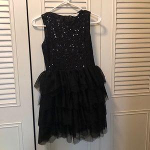 Girls black party dress. 11y-12y